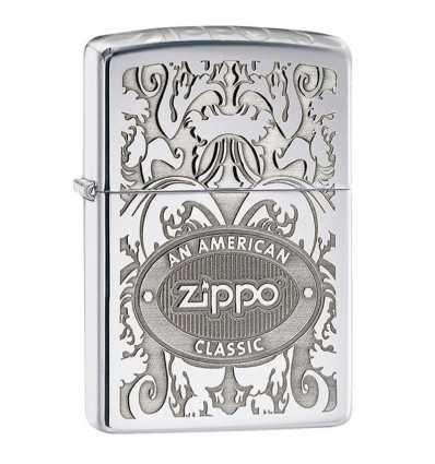 Brichete Zippo Zippo Crown Stamp High Polish Chrome Lighter
