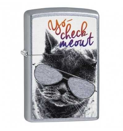 Zippo Cat with Glasses