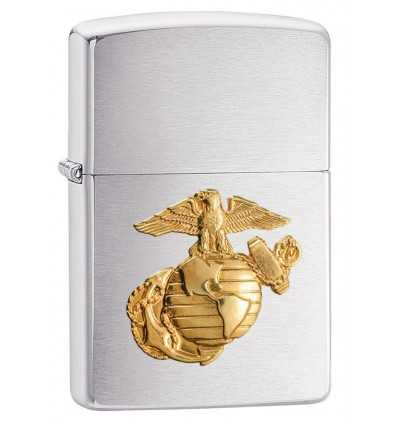Zippo US Marines Brushed Chrome