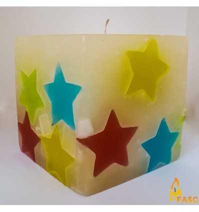 Lumanare Antitabac Cub din Noapte Multicolor