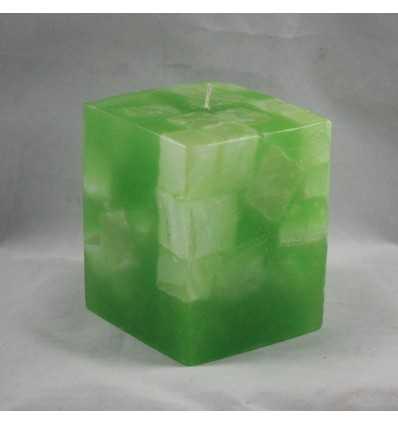 Lumanari Decorative Lumanari Cubix Mare din Emerald