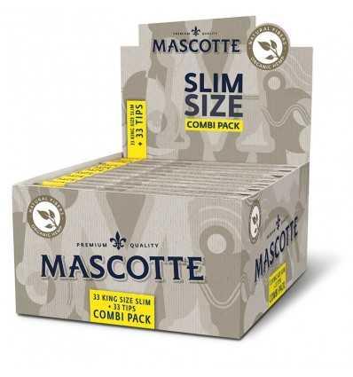 Cutie cu Hartie de infasurat Mascotte Slim Size Organic Combi Pack, 25 pachete