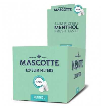Cutie cu Filtru Mascotte Slim Menthol 120, 20 pachete