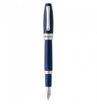 Stilouri, Montegrappa Fortuna Blue Fountain Pen, Steel