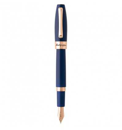 Stilouri, Montegrappa Fortuna Blue Fountain Pen, Rose Gold
