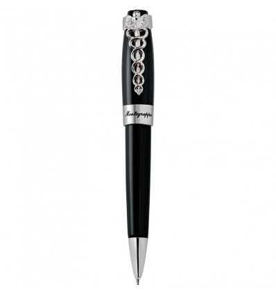 Pix Ballpoint, Montegrappa Caduceus Black Ballpoint Pen, Steel